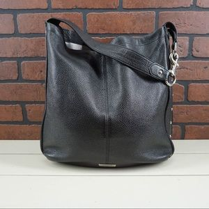 COACH Park Avery Hobo Bag Studded Black Leather